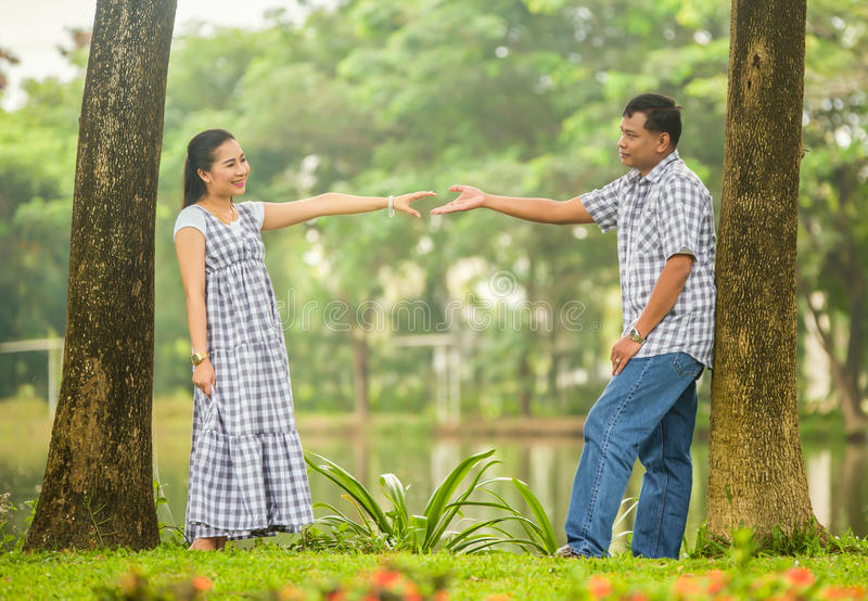 Download Concept Shot  Of Asian Young Couple In Love . Stock Photo - Image of girl, outdoors: 35500356