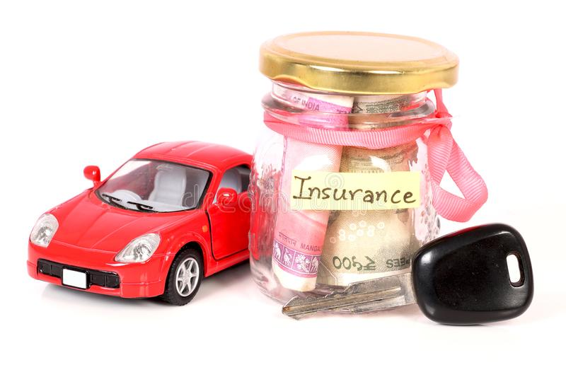 Car insurance. Concept shot of car insurance on white background royalty free stock image