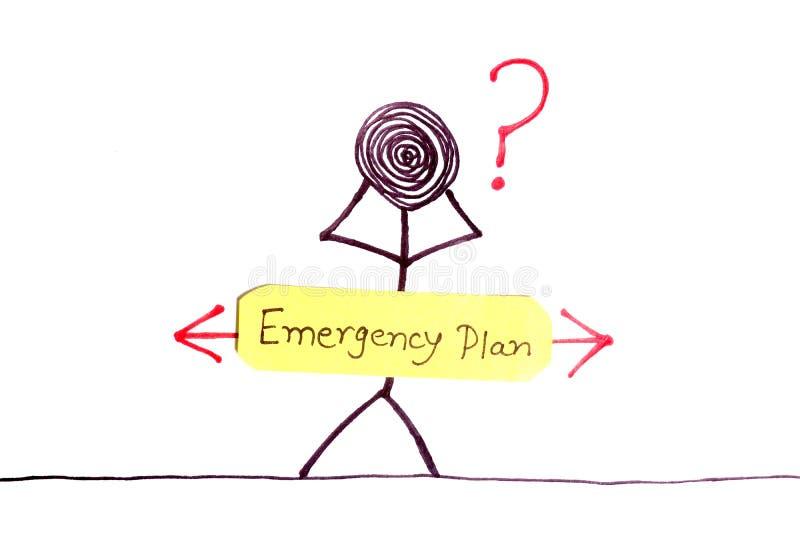 Emergency plan. Concept shot of emergency plan on white background royalty free illustration
