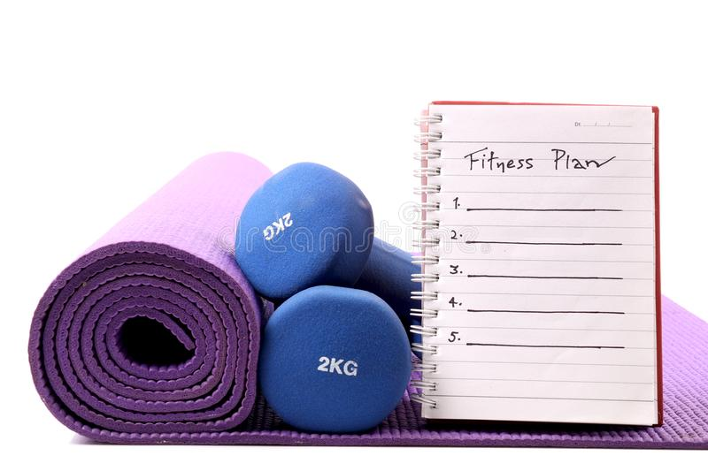 Fitness plan royalty free stock images