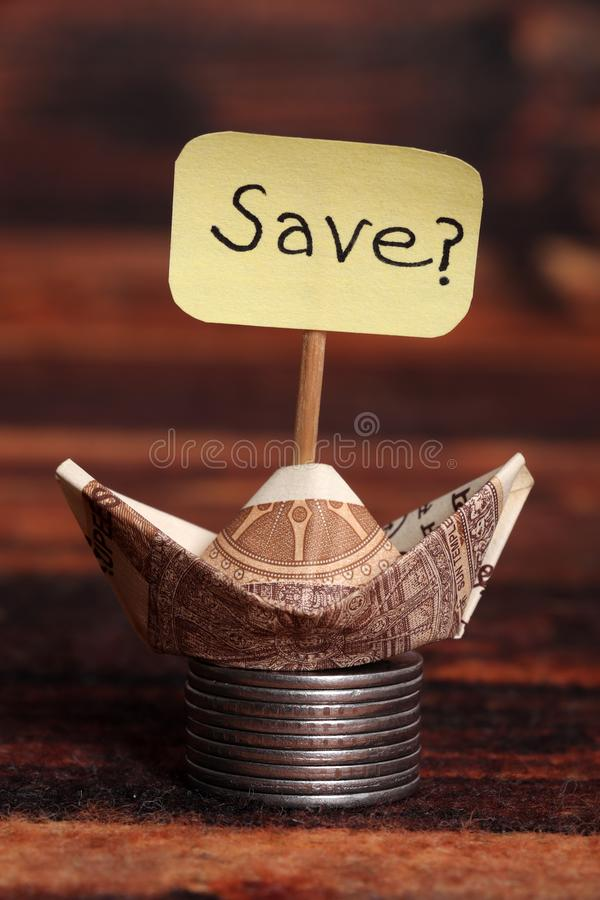 Save money. Concept shot giving message to save money royalty free stock image