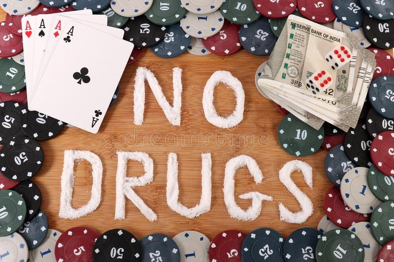 Stop drugs. Concept shot giving message to stop drug use stock images