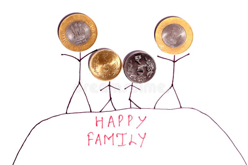 Happy family royalty free illustration