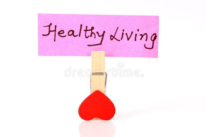 Healthy living. Concept shot of healthy living on white background stock photos