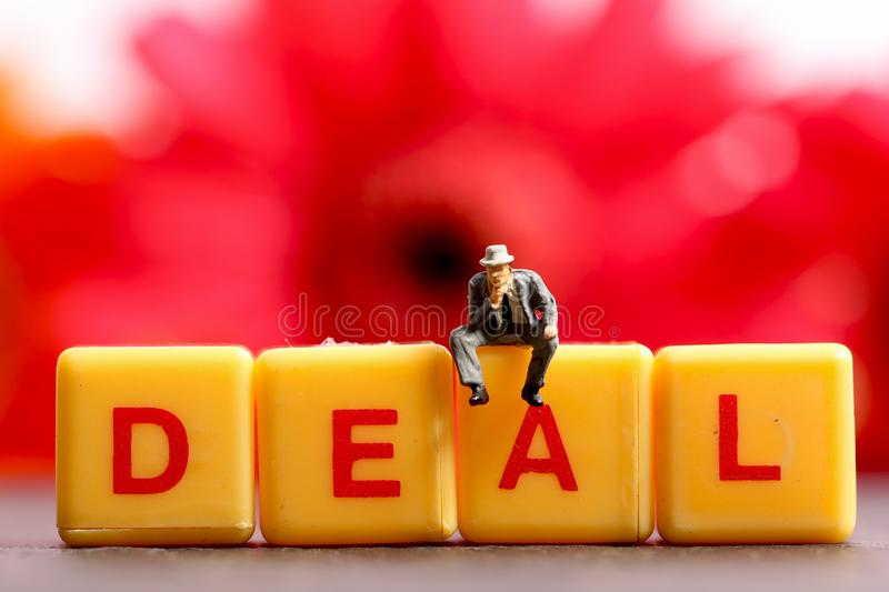 Thinking about deal stock images