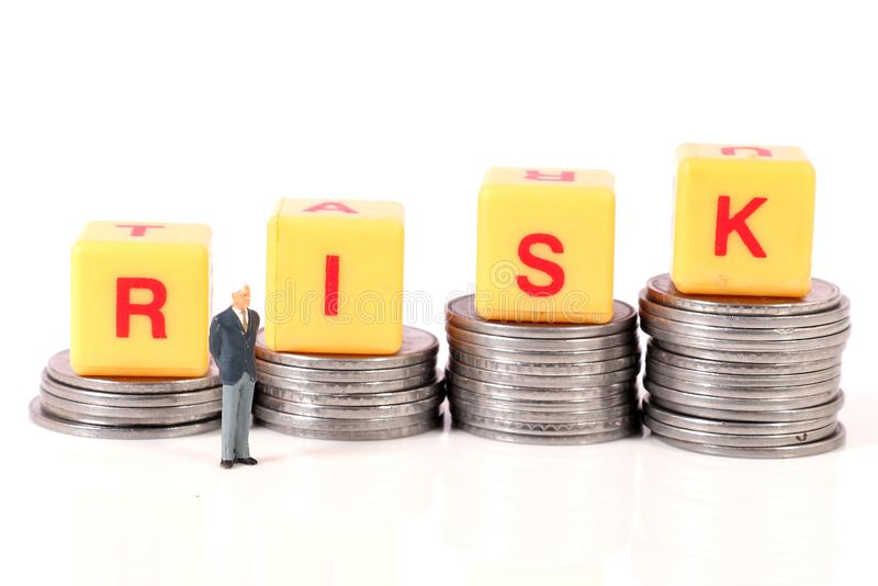 Money and risk stock images