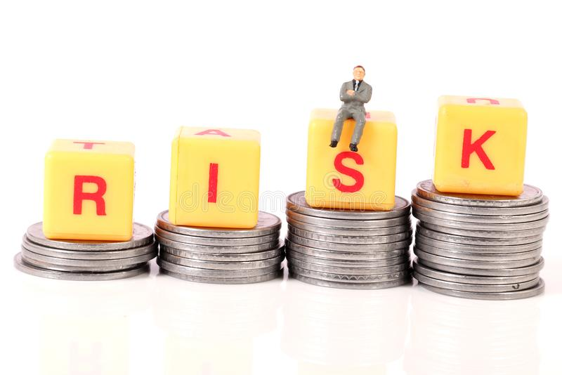 Money and risk stock photography