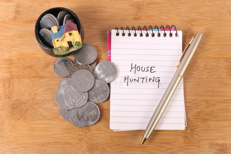 Home savings stock image