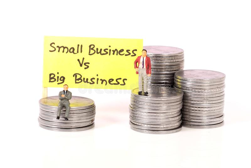 Small vs big business royalty free stock photography