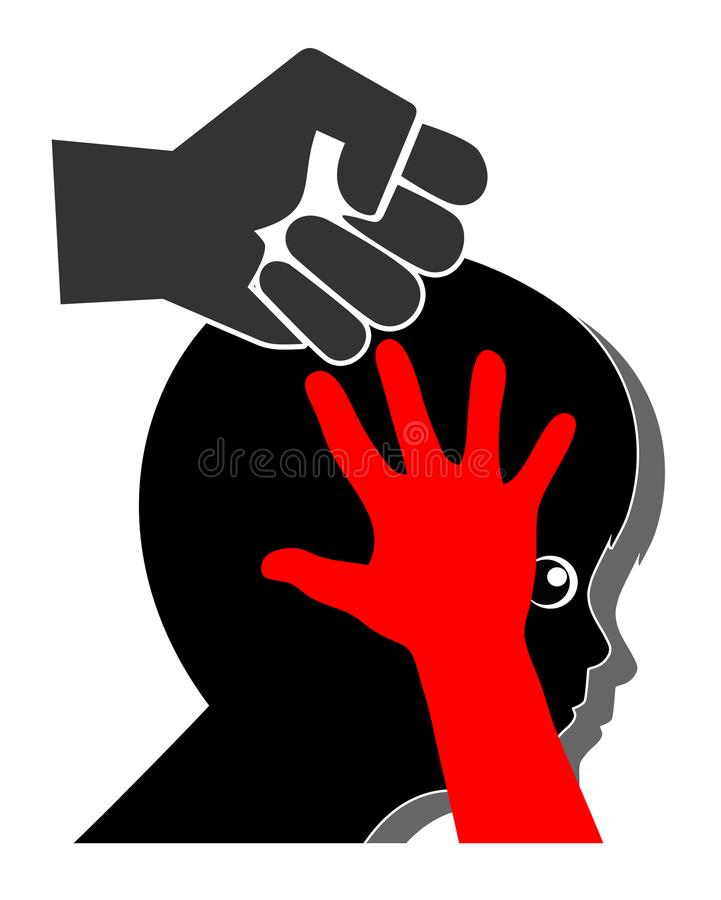 Violence against Kids stock illustration