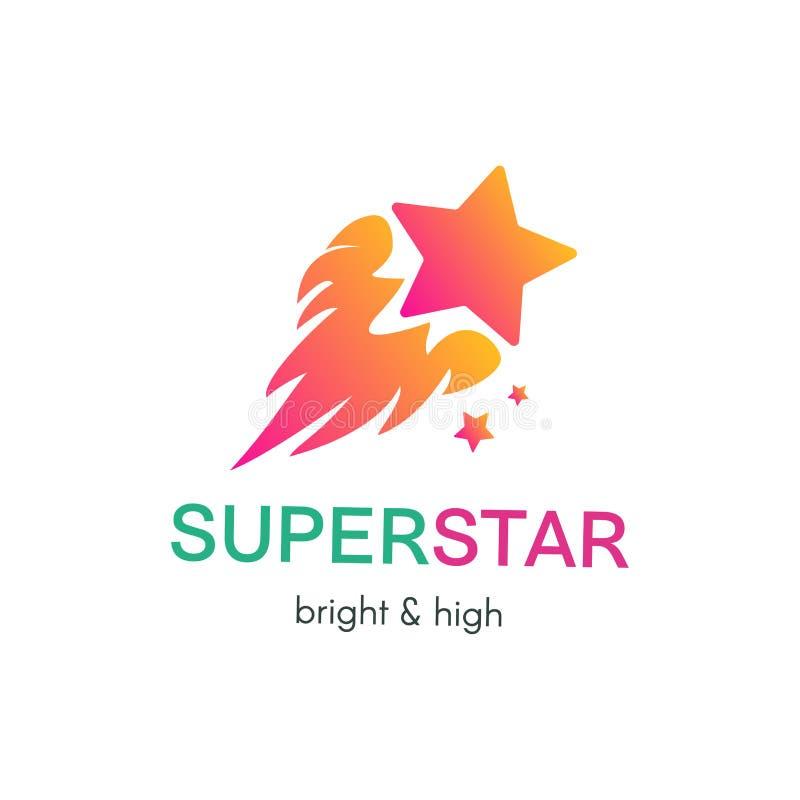 Concept simple volant de logo de vecteur d'étoile illustration libre de droits