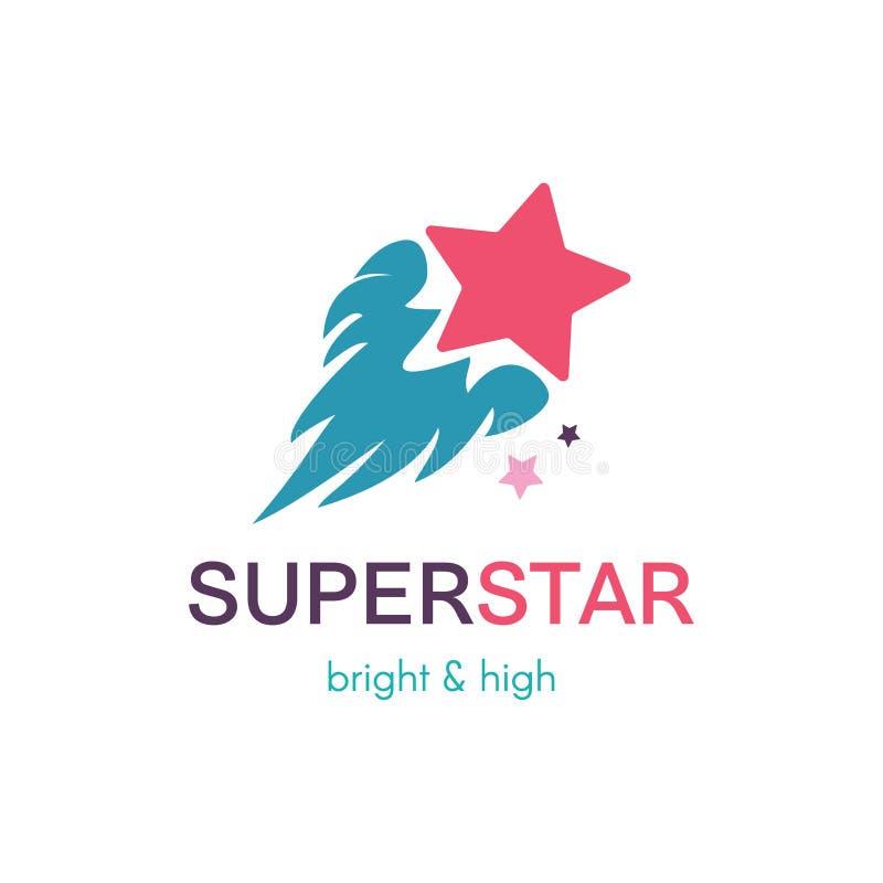 Concept simple volant de logo de vecteur d'étoile illustration stock