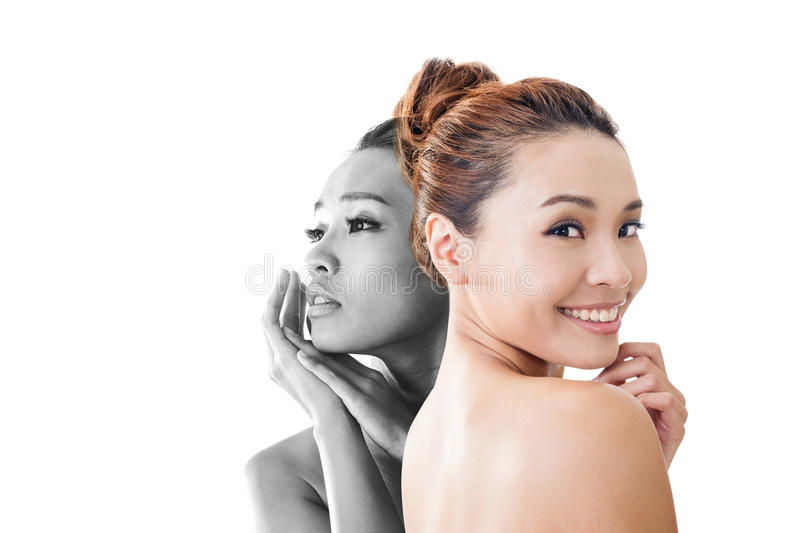 Concept of skin care stock image