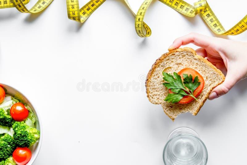 Concept slimming diet fresh vegetables on white background top v royalty free stock images
