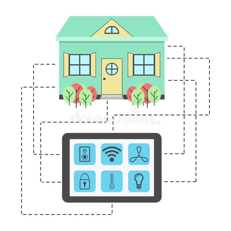 Concept of smart house stock illustration