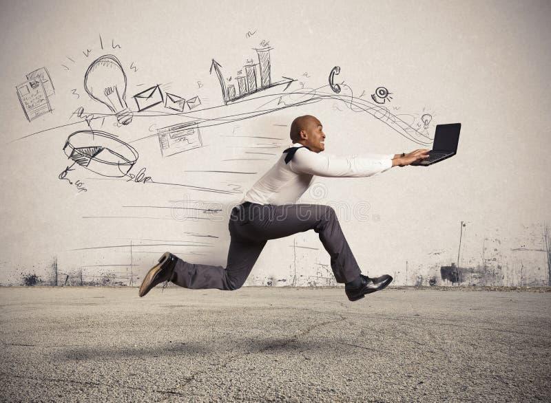 Snelle zaken stock fotografie