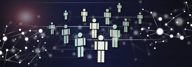 Concept sociaal netwerk stock illustratie