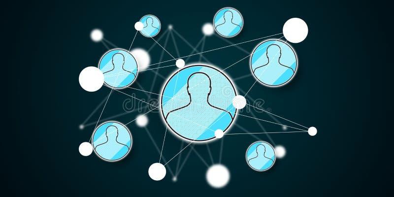 Concept sociaal netwerk vector illustratie