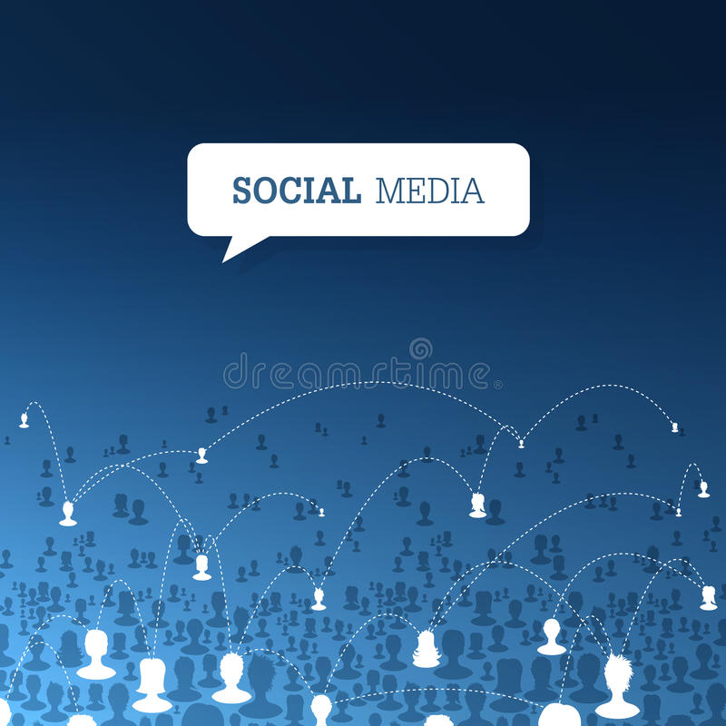 Concept social de communications Vecteur illustration de vecteur