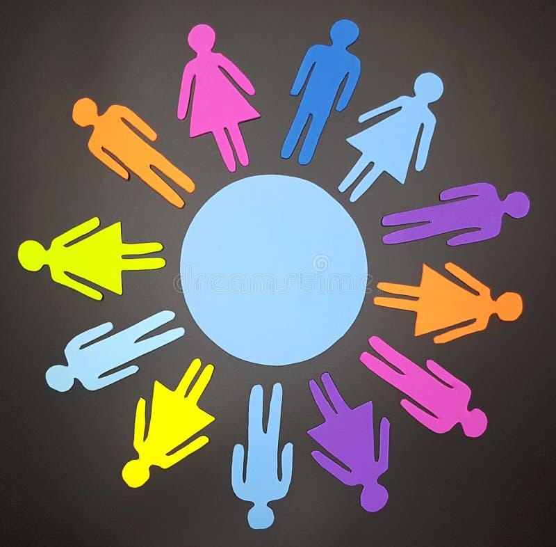 Concept social de diversité images libres de droits