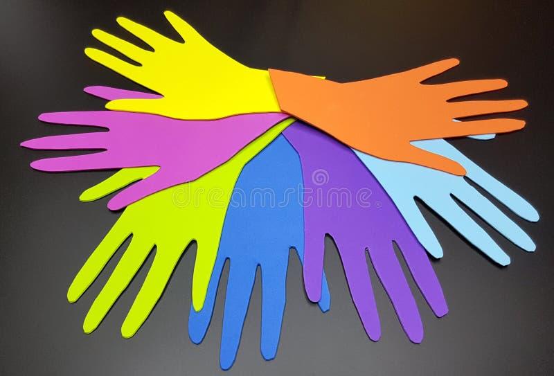 Concept social de diversité image stock