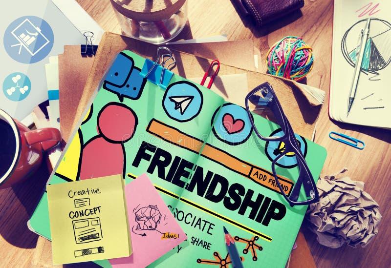 Concept social de fidélité de media de personnes de groupe d'amitié illustration stock