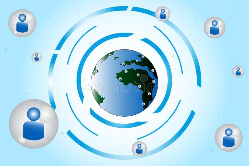 Concept social de gestion de réseau illustration de vecteur