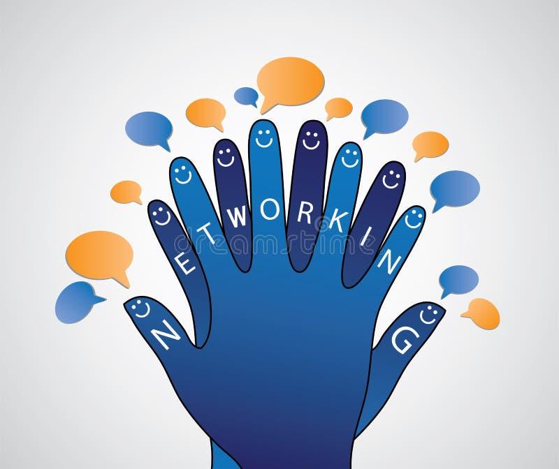 Concept social de gestion de réseau de conversation de gens illustration de vecteur