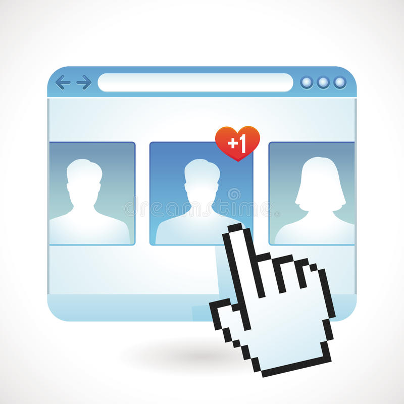 Concept social de media de vecteur illustration stock