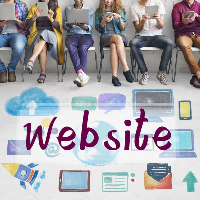 Concept social de réseau de connexion de media de site Web illustration de vecteur