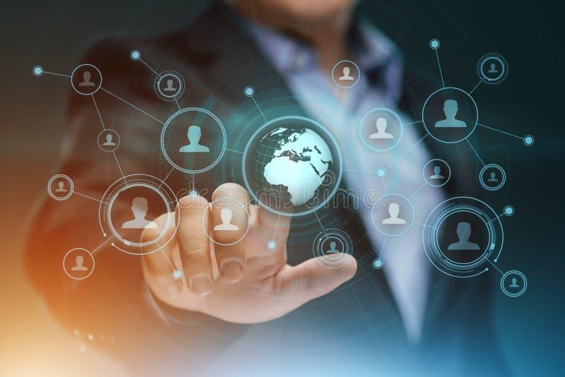 Concept social de technologie d'affaires d'Internet de réseau de Media Communication photos libres de droits