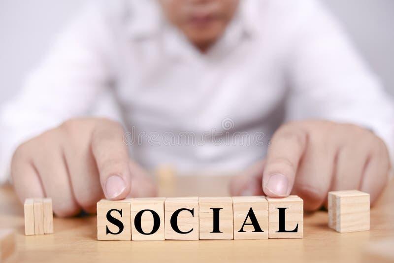 Concept social de typographie de mots images stock