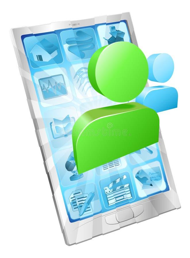 Concept social du téléphone $$etAPP de graphisme de medias illustration de vecteur