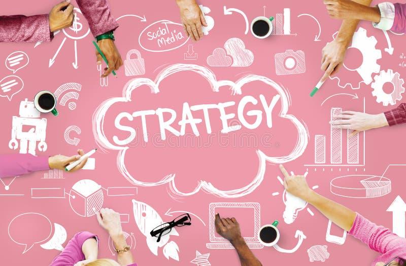 Concept social en ligne de vente de mise en réseau de media de stratégie photo stock