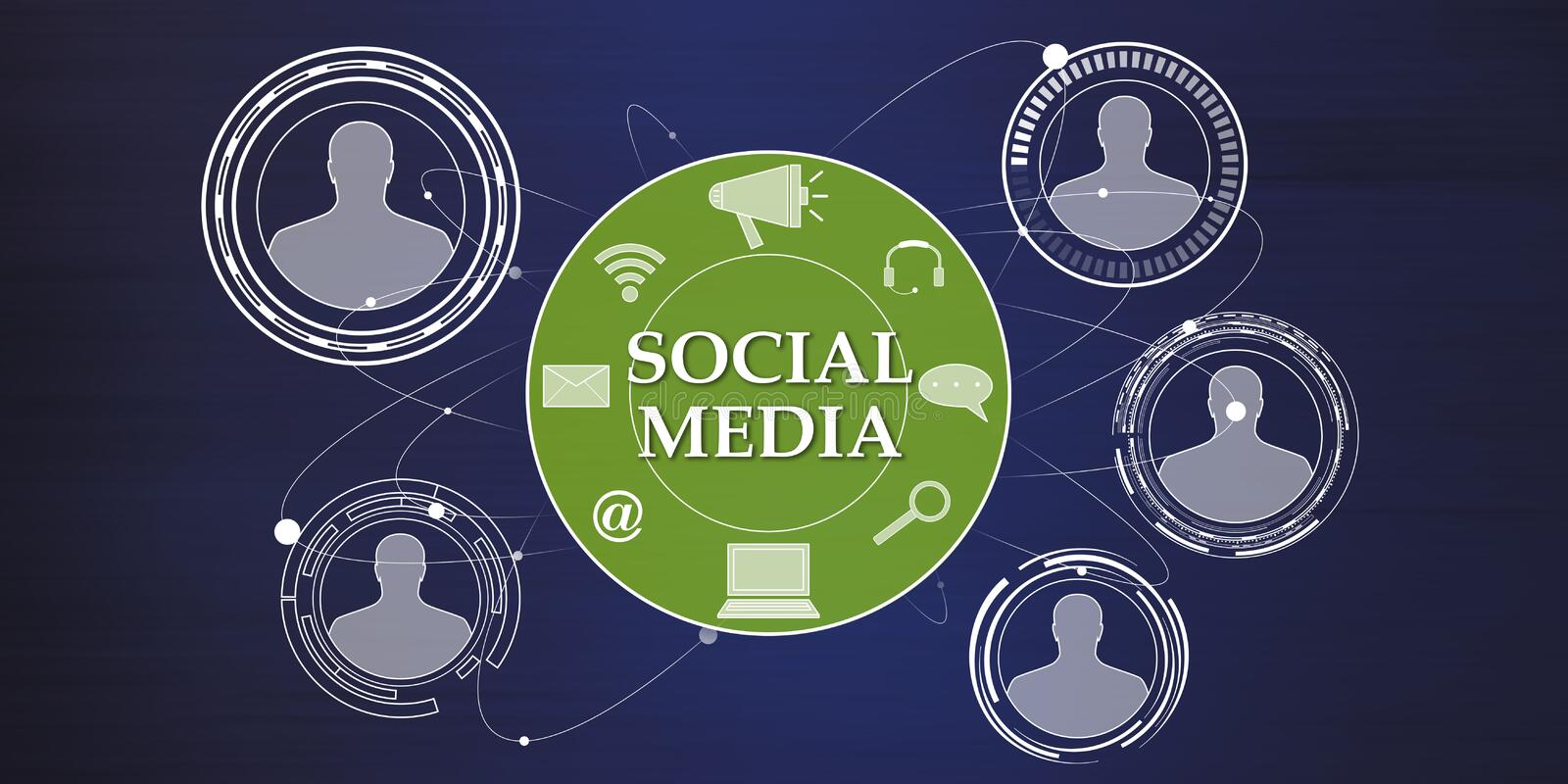 Concept of social media stock illustration