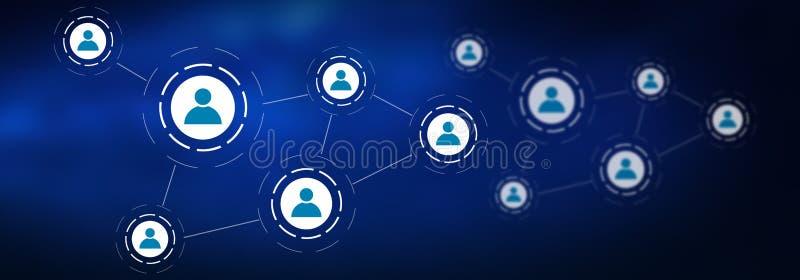 Concept of a social media network stock illustration