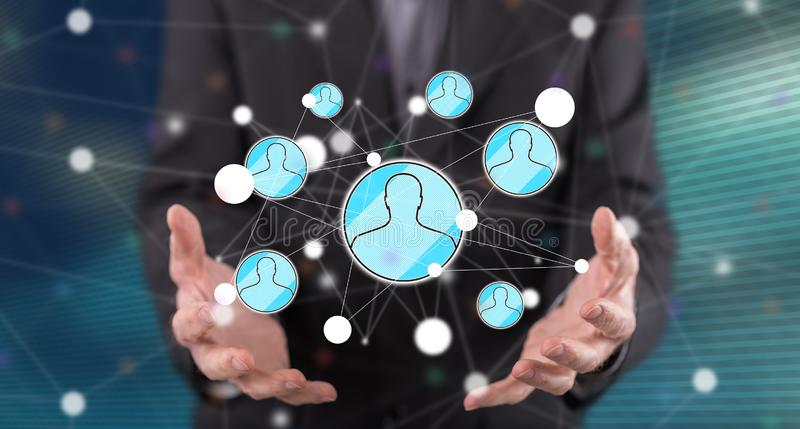 Concept of social network royalty free stock image