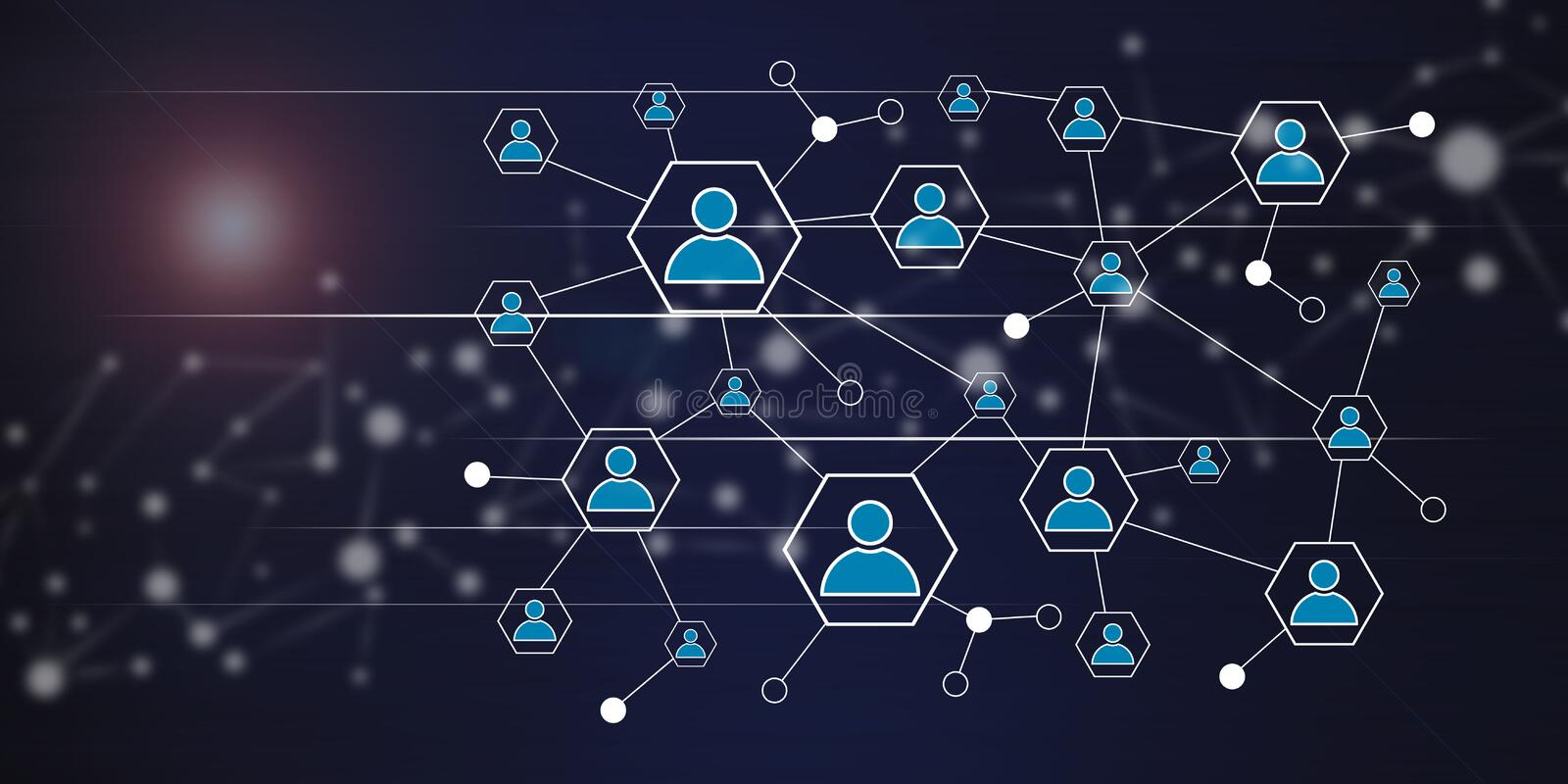 Concept of a social network. Illustration of a social network concept vector illustration
