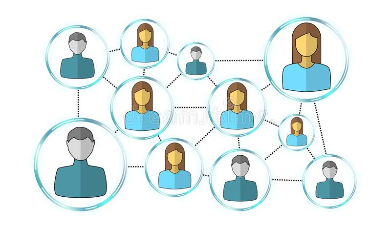 Concept of social network vector illustration