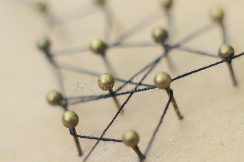 Concept of a social network with leader. Of a management structure with linkages and interaction royalty free stock photos