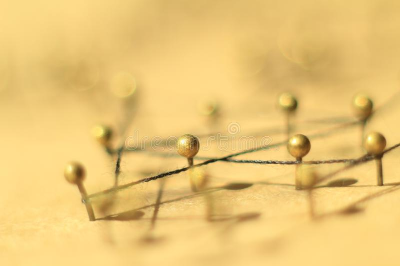 Concept of a social network with leader. Of a management structure with linkages and interaction stock image