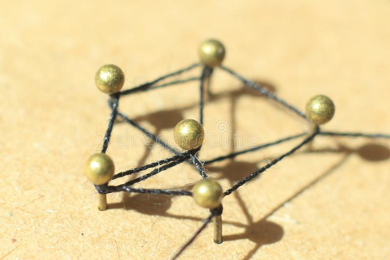 Concept of a social network with leader. Of a management structure with linkages and interaction stock photos