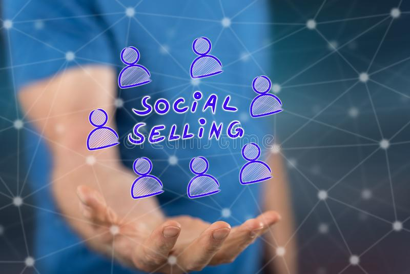 Concept of social selling royalty free stock images