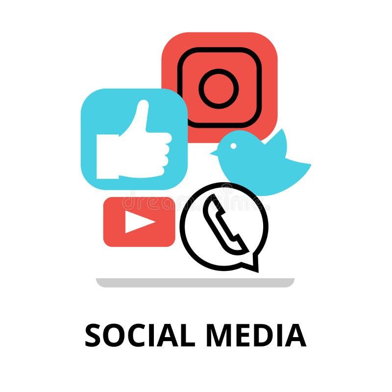 Concept sociale media vector illustratie