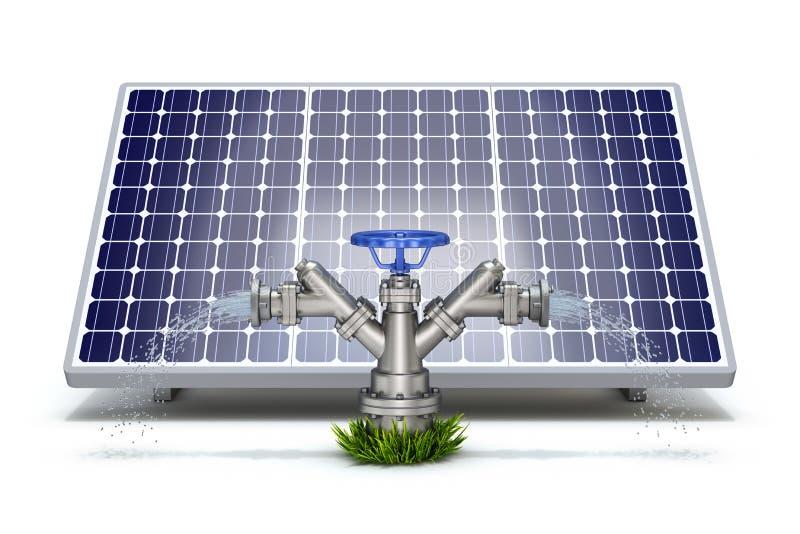 Concept solaire d'irrigation illustration libre de droits