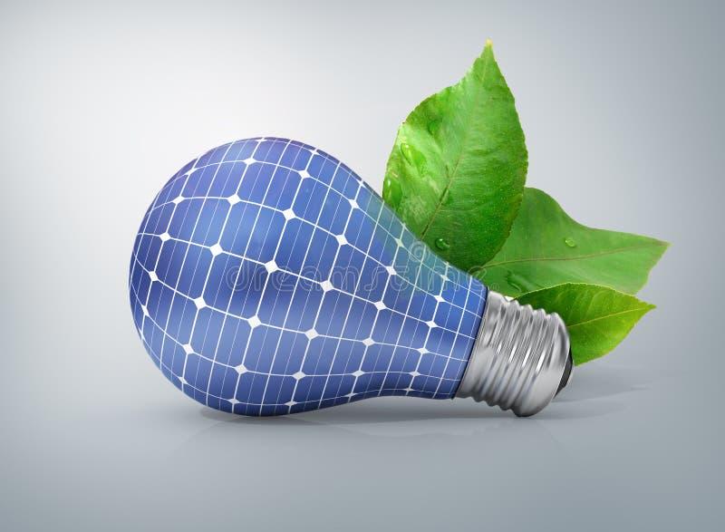 Concept of solar energy. Green energy. stock photos