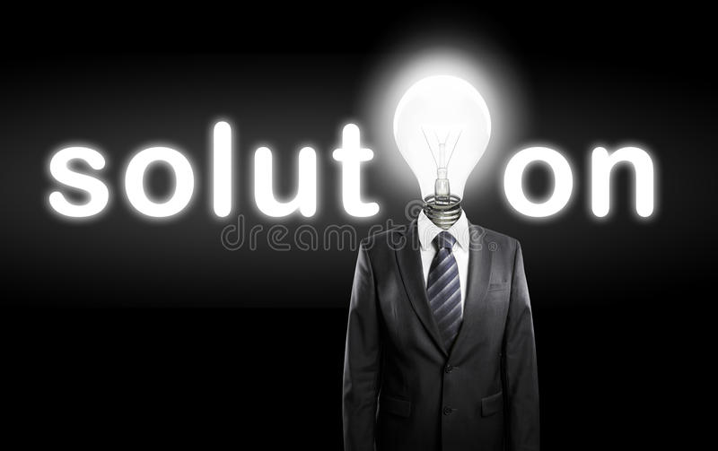 Concept solution royalty free stock photography