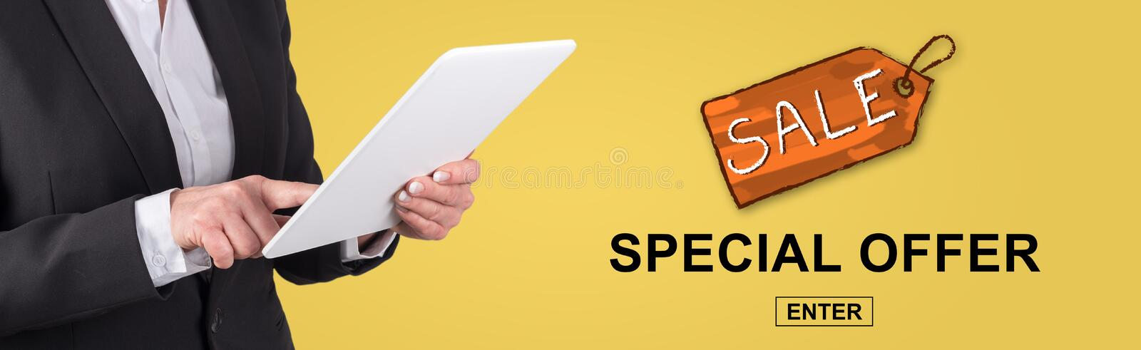 Concept of special offer stock images