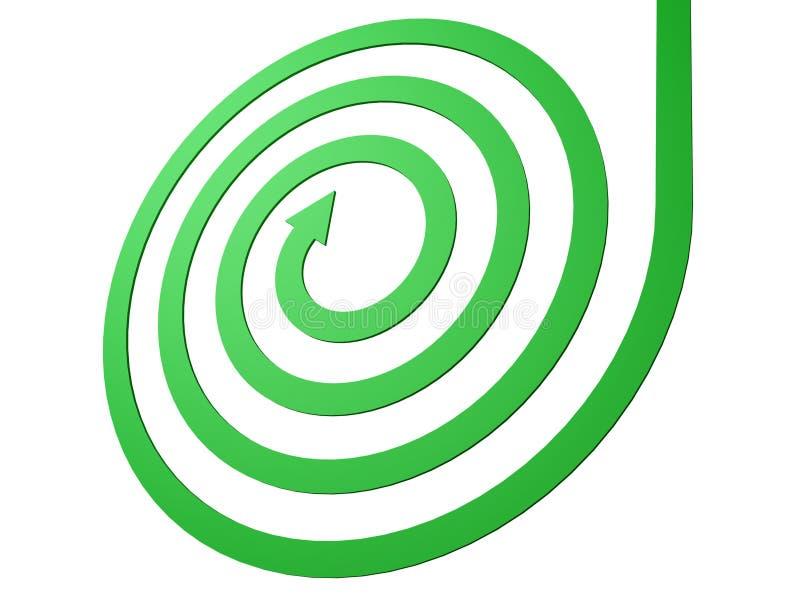 Concept spiralé vert de mouvement d'affaires de flèche illustration libre de droits