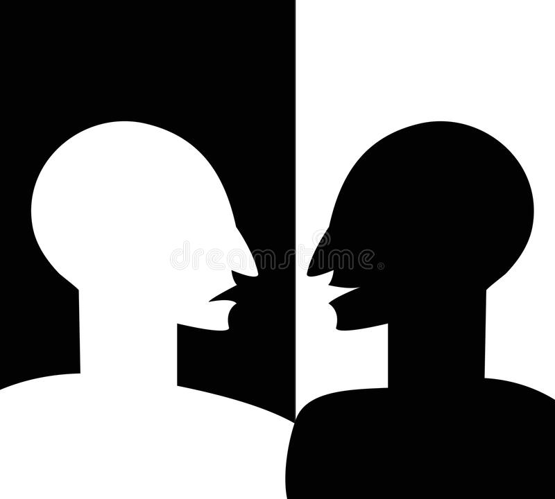 Concept Of Split Personality Stock Image